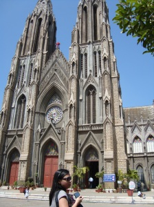 One of the Catholic churches in Mysore